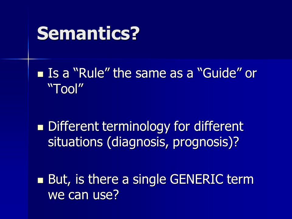 Semantics.