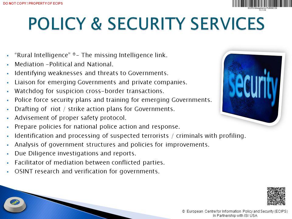  Rural Intelligence ® – The missing Intelligence link.