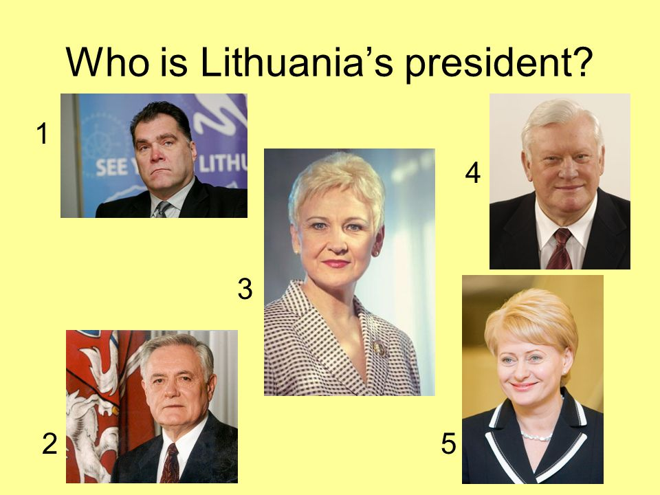 Who is Lithuania's president? 1 4 3 2 5