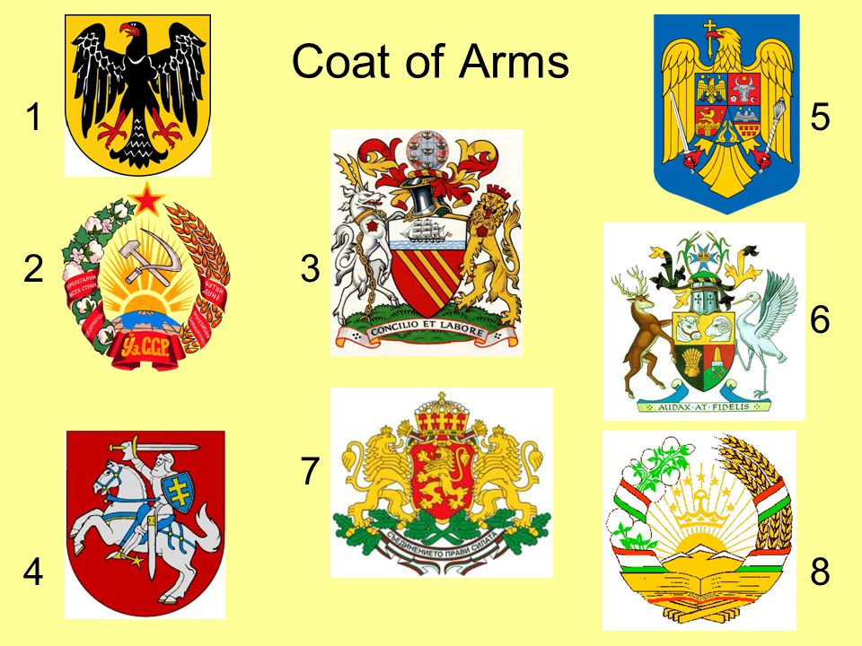 Coat of Arms 1 5 2 3 6 7 4 8