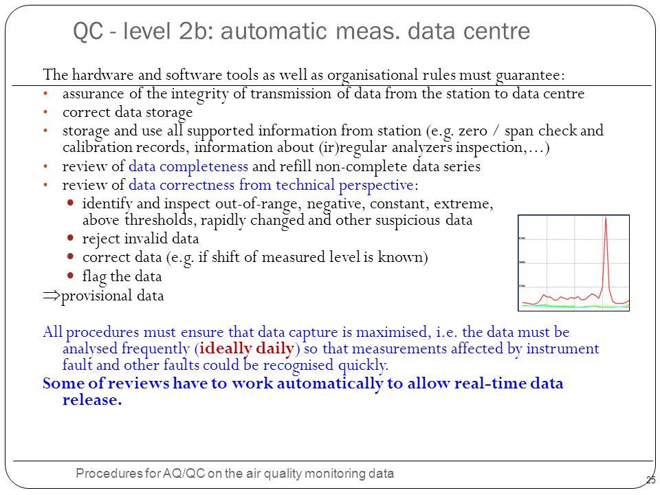 25 QC - level 2b: automatic meas.