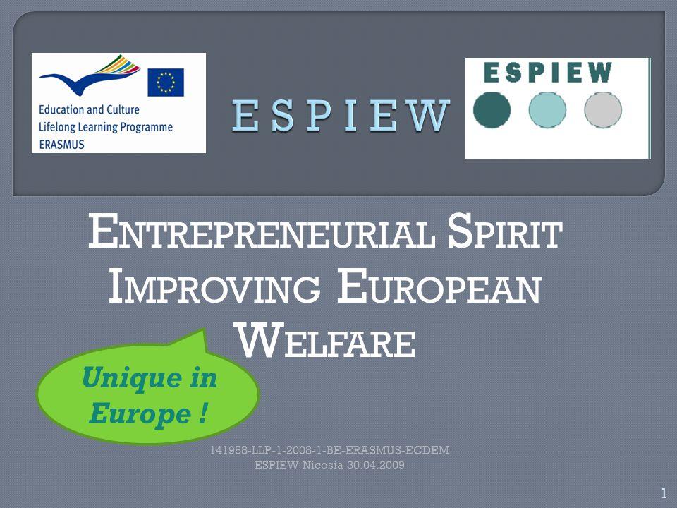 12 141958-LLP-1-2008-1-BE-ERASMUS-ECDEM ESPIEW Nicosia 30.04.2009