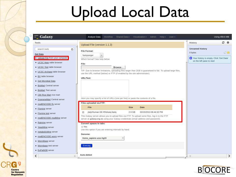 Upload Local Data