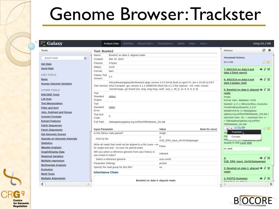 Genome Browser: Trackster