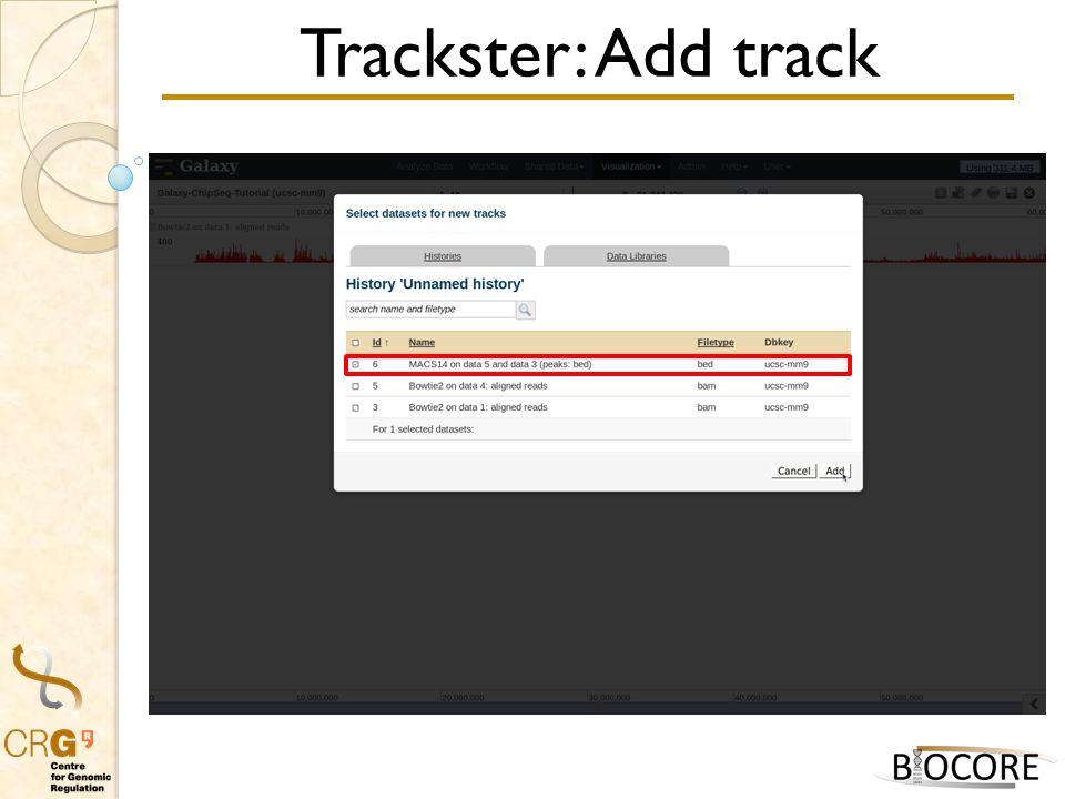 Trackster: Add track