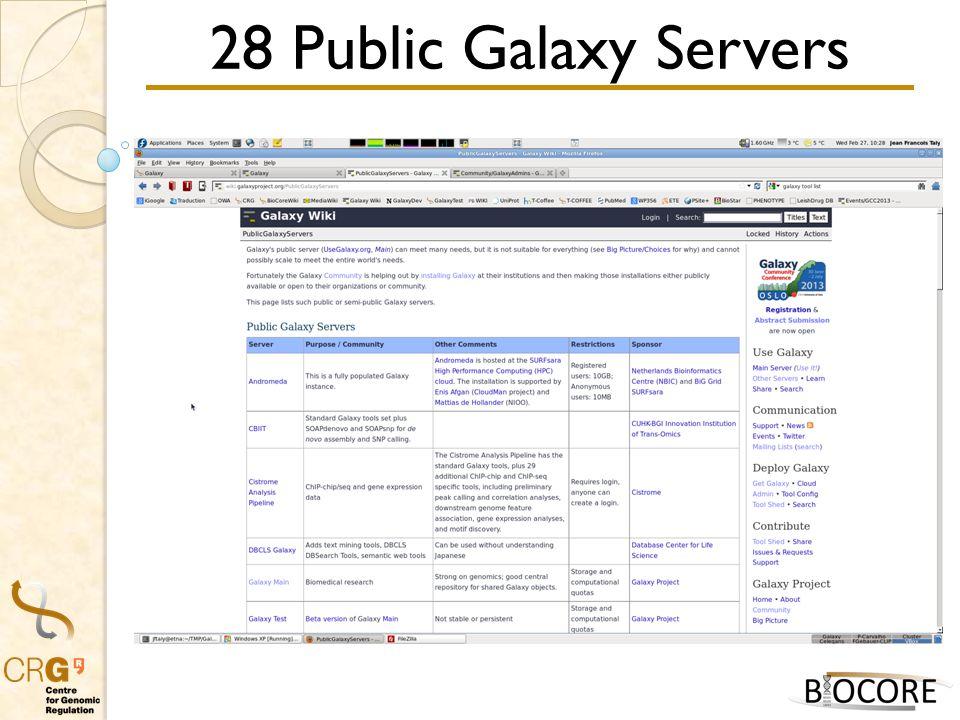 28 Public Galaxy Servers