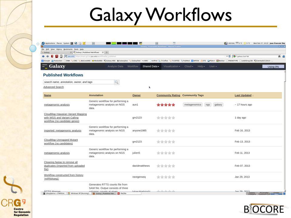 Galaxy Workflows