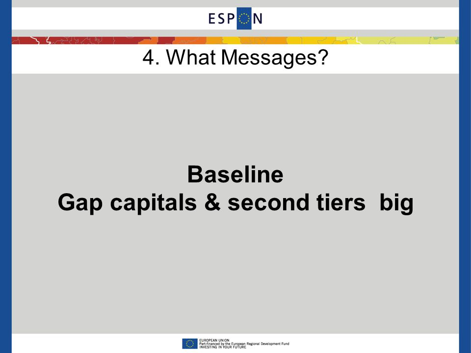 4. What Messages Baseline Gap capitals & second tiers big