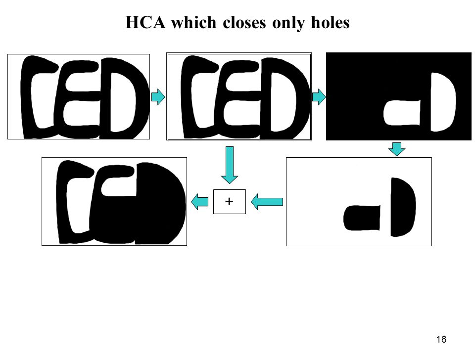 16 HCA which closes only holes +