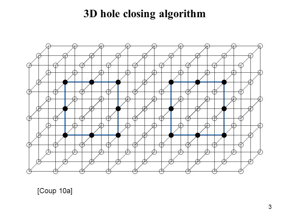 3 3D hole closing algorithm [Coup 10a]