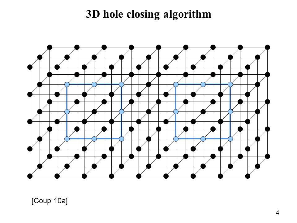 4 3D hole closing algorithm [Coup 10a]