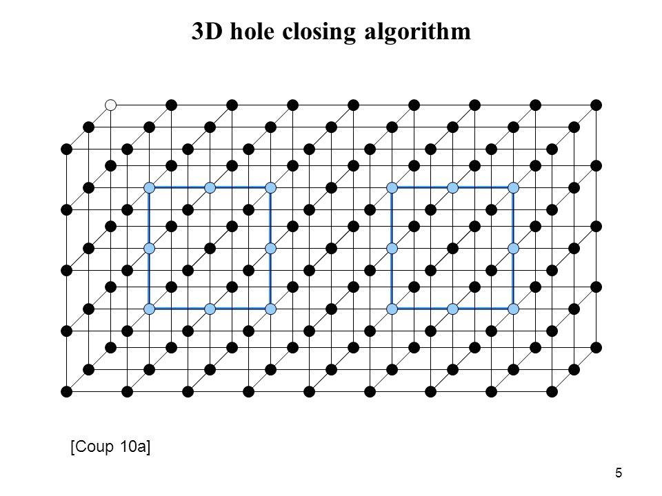 5 3D hole closing algorithm [Coup 10a]