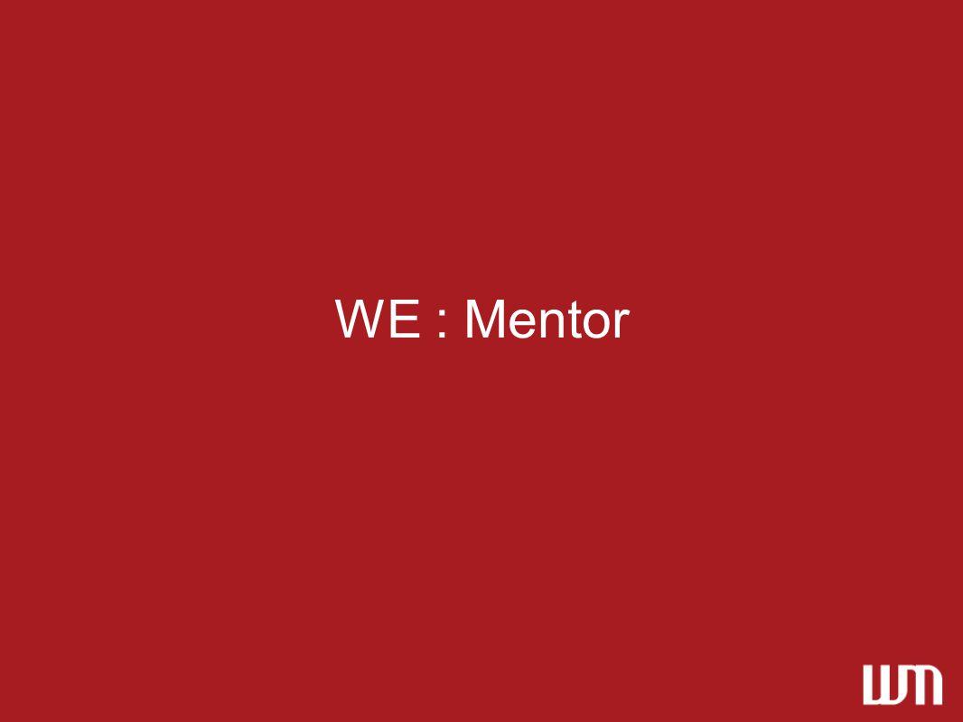WE : Mentor