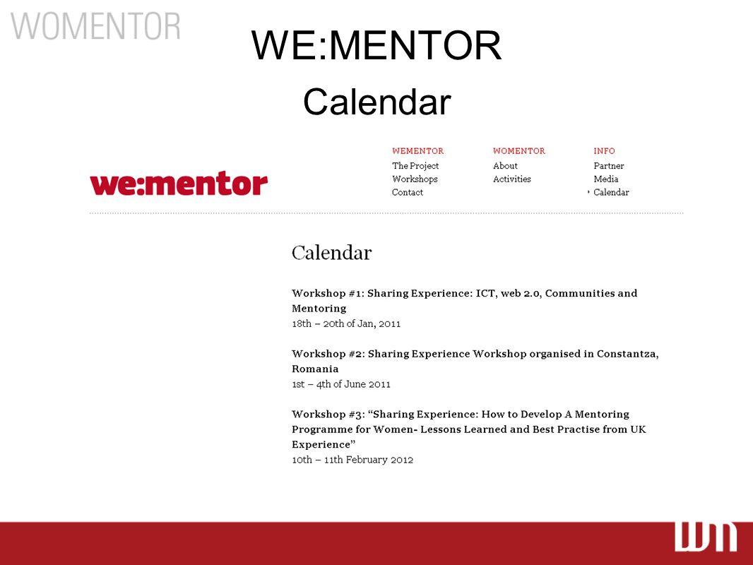 WE:MENTOR Calendar