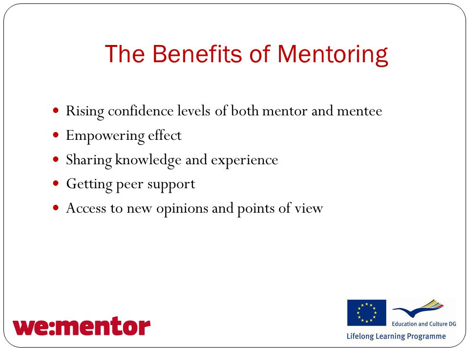 Developing a Mentoring Programme Matching is a crucial stage Contracting Evaluation and Monitoring, keep a learning log Expect Change!