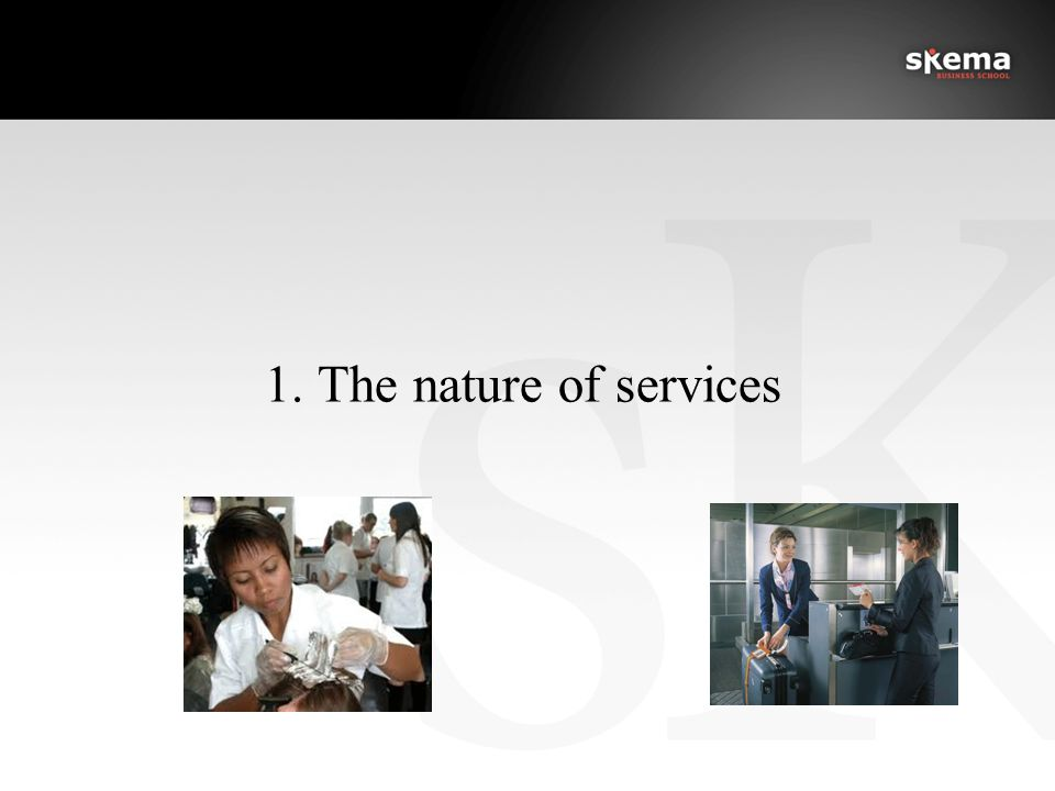 1. The nature of services