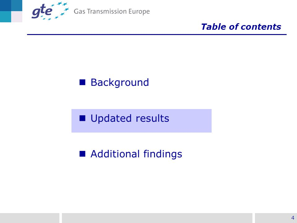 4 Background Updated results Additional findings Table of contents