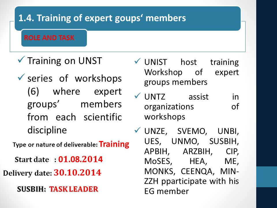 Training on UNST series of workshops (6) where expert groups' members from each scientific discipline UNIST host training Workshop of expert groups me