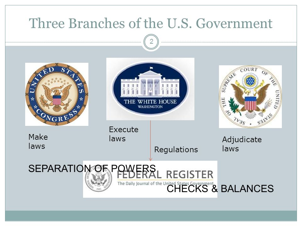Three Branches of the U.S.