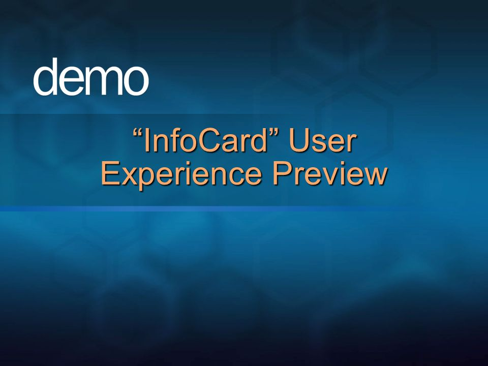 InfoCard User Experience Preview