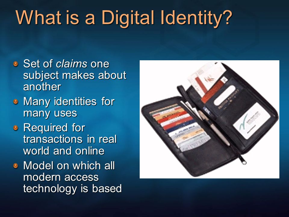 What is a Digital Identity.