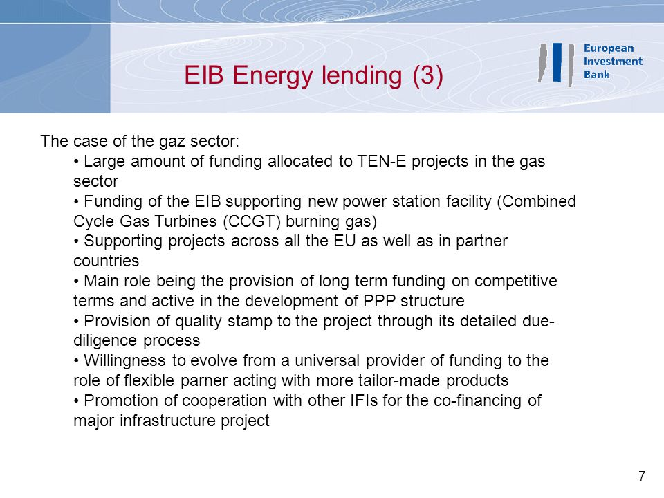 8 EIB-funded TEN Gas Approved