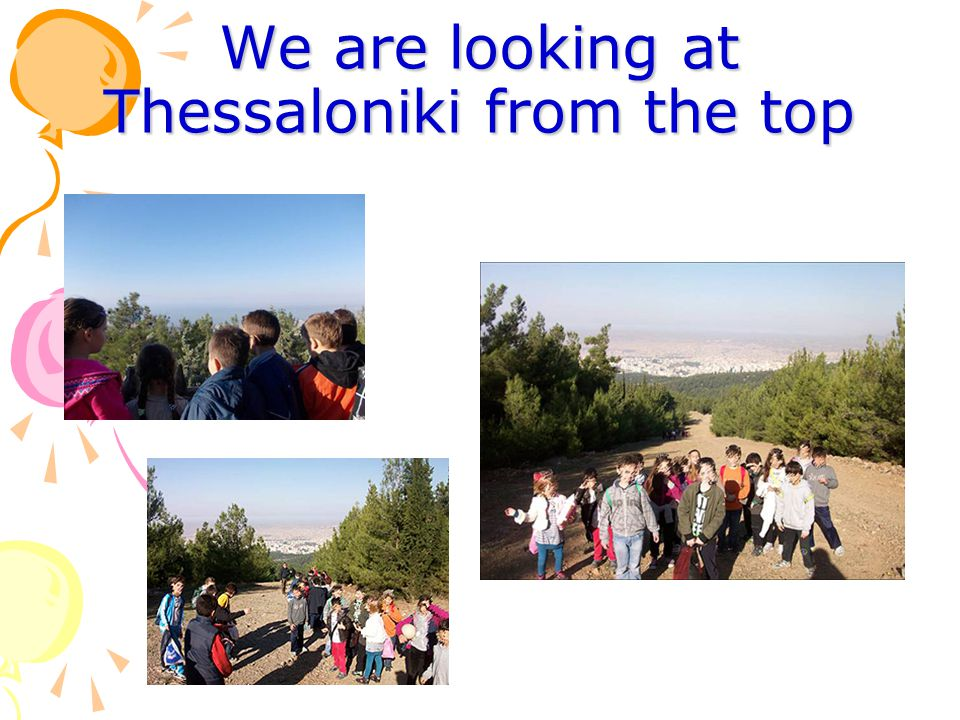 We are looking at Thessaloniki from the top