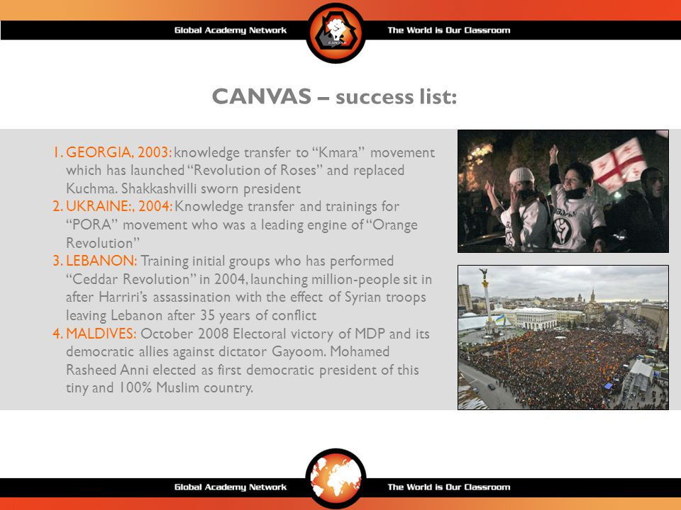 CANVAS – key ongoing references: 1.