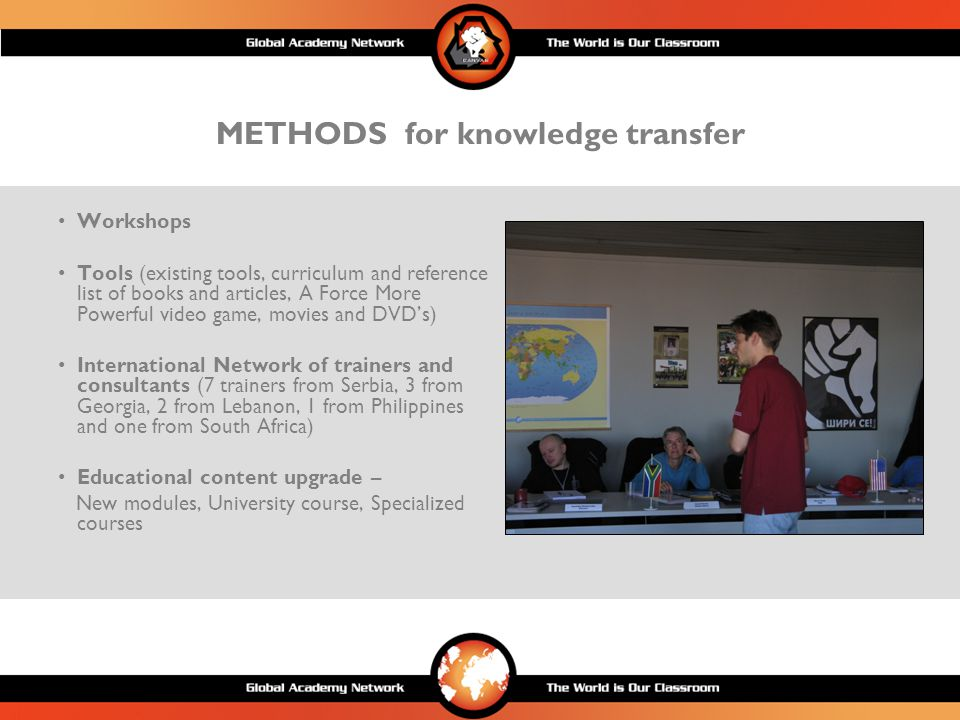 TOOLS for spreading and transfering knowledge