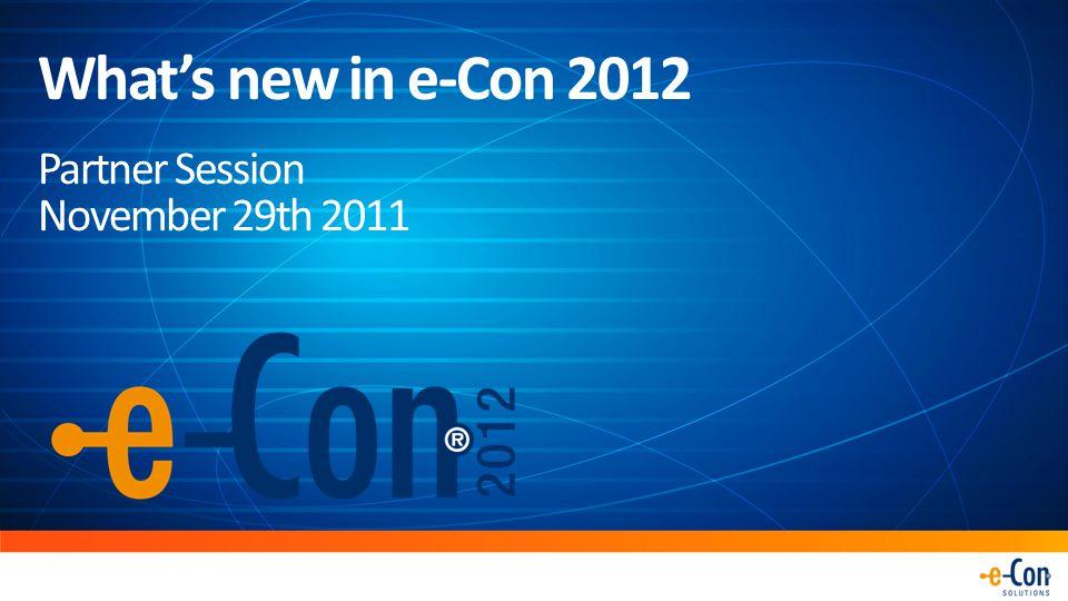 DEMO e-Con 2012 for Microsoft Dynamics NAV 2009 R2