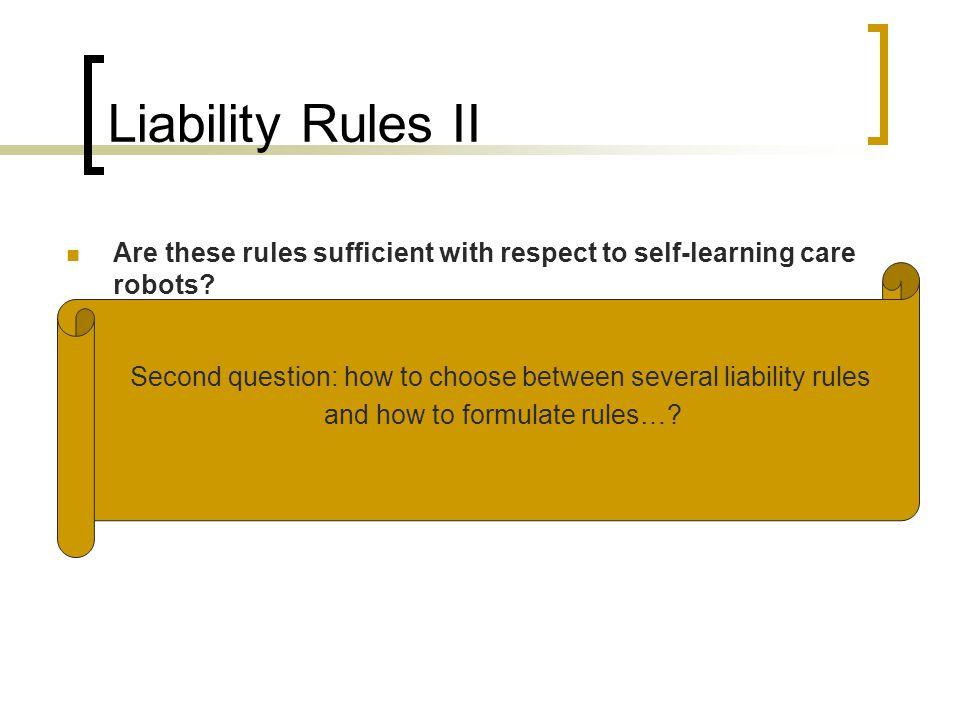 Choosing between liability schemes 1.