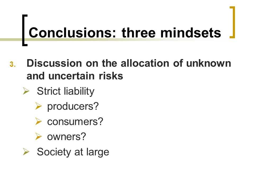 Conclusions: three mindsets 3.