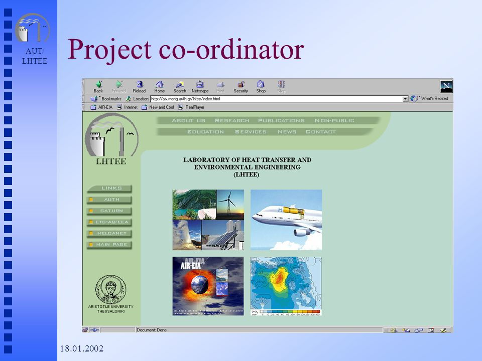 AUT/ LHTEE 18.01.2002 Project co-ordinator