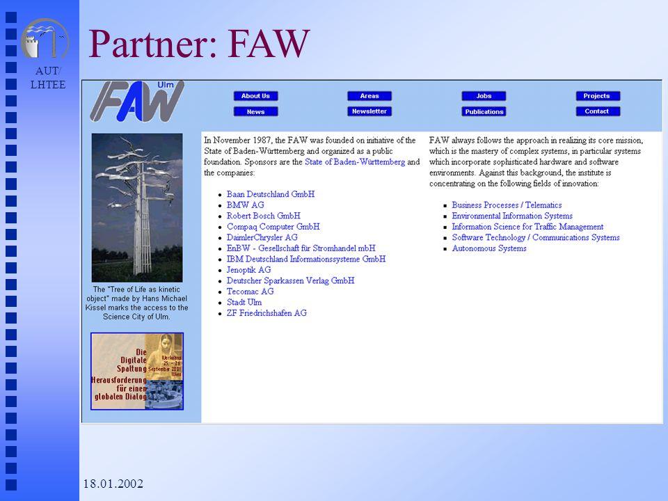 AUT/ LHTEE 18.01.2002 Partner: FAW