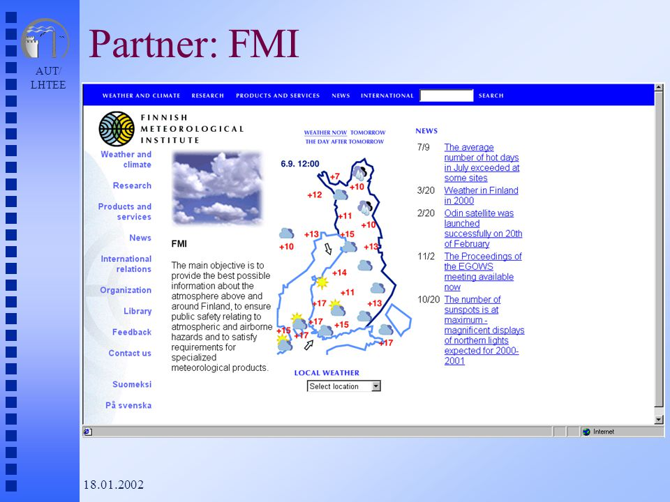 AUT/ LHTEE 18.01.2002 Partner: FMI