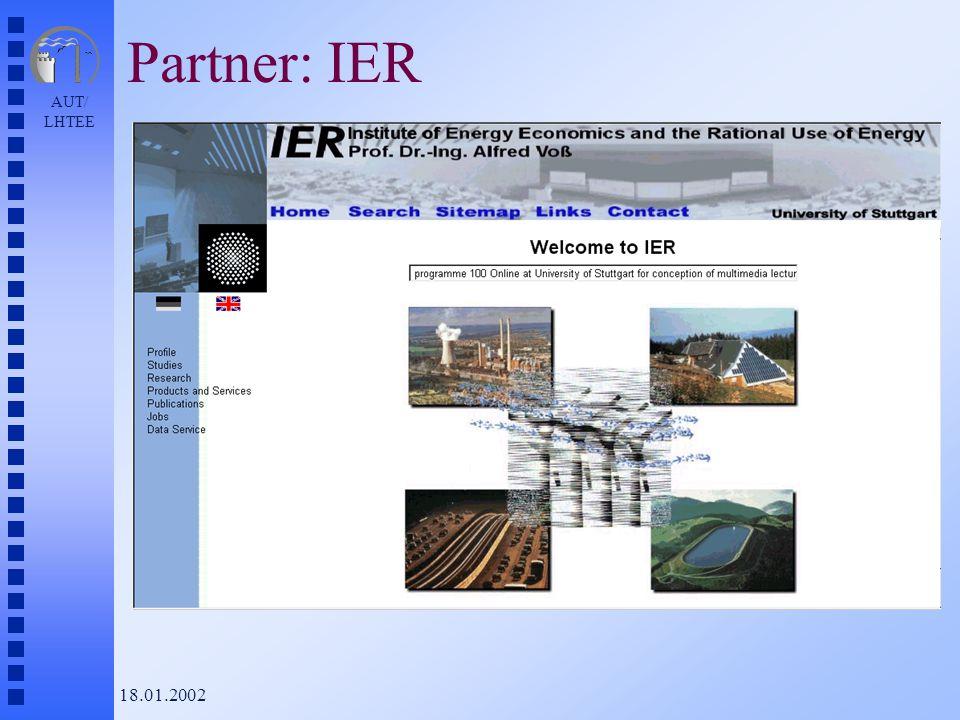 AUT/ LHTEE 18.01.2002 Partner: IER