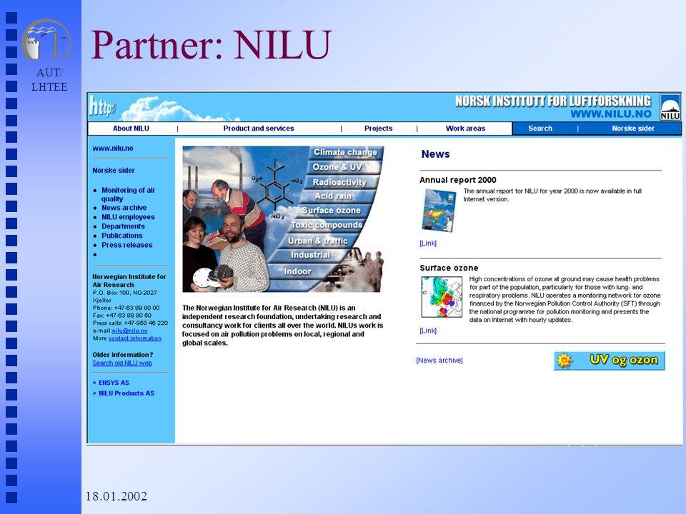 AUT/ LHTEE 18.01.2002 Partner: NILU