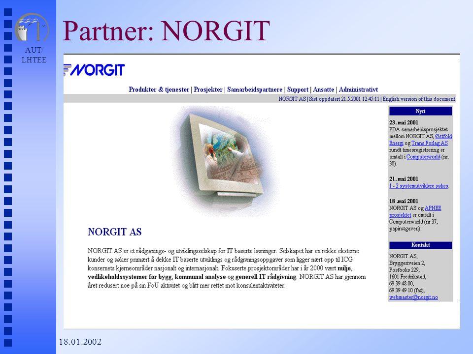 AUT/ LHTEE 18.01.2002 Partner: NORGIT