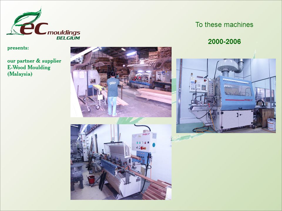 To these machines 2000-2006
