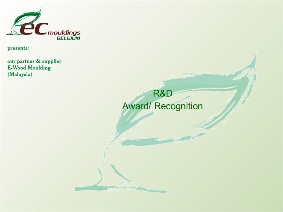 R&D Award/ Recognition