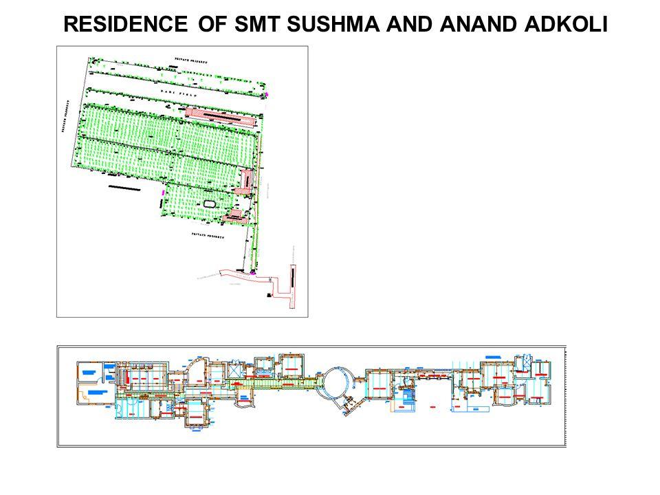 RESIDENCE OF SMT SUSHMA AND ANAND ADKOLI
