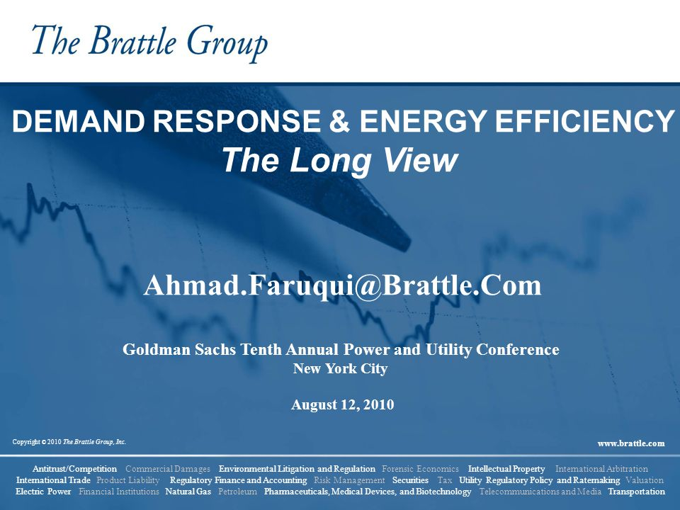 2 Goldman Sachs Tenth Annual Power and Utility Conference Agenda 1.Introduction 2.Demand Response programs 3.