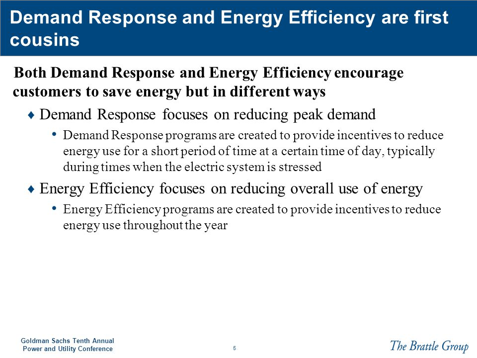26 Goldman Sachs Tenth Annual Power and Utility Conference The economic potential scenario yields a reduction of 664 TWh in 2030 Source (Actual Energy Use): EIA Electric Power Annual 2008 Source (Predicted Energy Use): EIA Annual Energy Outlook 2010 Source: EPRI Assessment of Achievable Potential from Energy Efficiency and Demand Response Programs in the U.S.