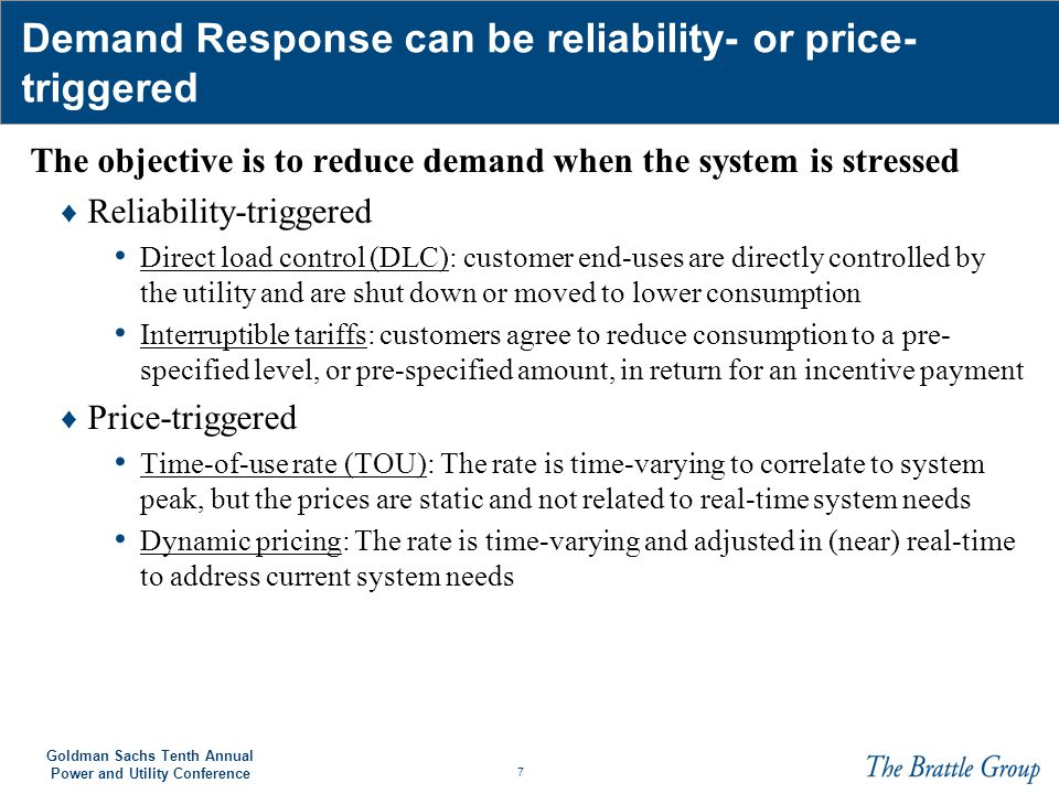 18 Goldman Sachs Tenth Annual Power and Utility Conference The financial benefits of Demand Response may exceed $65 billion by 2030 The iGrid model was used to quantify the benefits ♦ Our calculations are driven by key assumptions about: Avoided capacity and energy costs Customer adoption and response rates Central air conditioning saturation See Faruqui, Ahmad, Peter Fox-Penner, and Ryan Hledik.