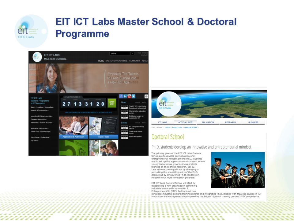 EIT ICT Labs Master School & Doctoral Programme