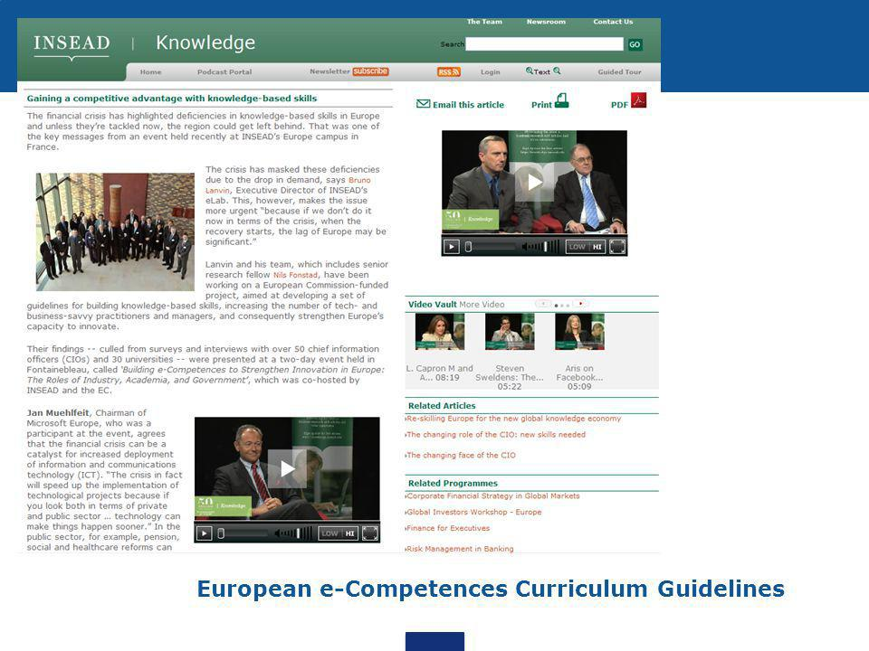 European e-Competences Curriculum Guidelines
