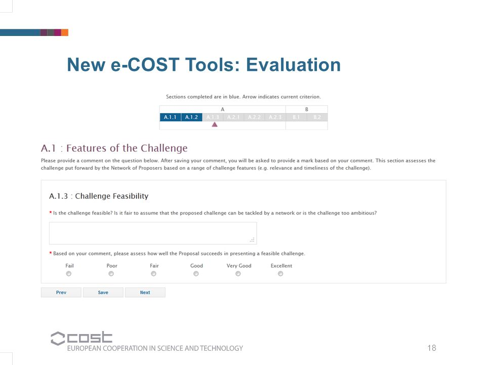 18 New e-COST Tools: Evaluation