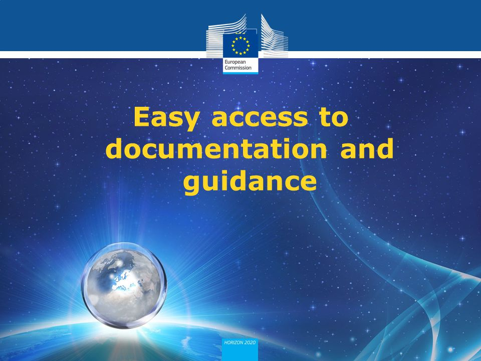 Easy access to documentation and guidance