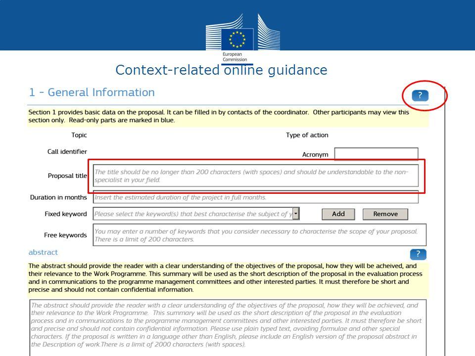 Context-related online guidance