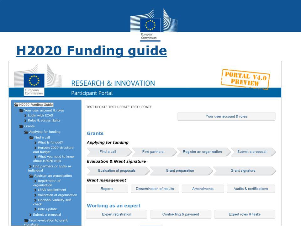 H2020 Funding guide